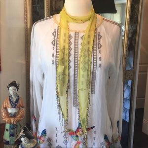 Chan Luu Green Sheen Necktie/Necklace